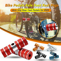 2PCS Bike Pedals Axle Foot Rest Pegs Anti-Slip Rear Feet Pedals for BMX Cycling