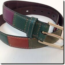 Fossil Multi Colored Leather Belt 37 x 1