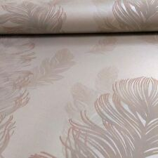 Metales preciosos oro Rosa Sirius plumas papeles pintados dormitorio Arthouse