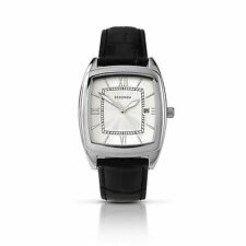 Stainless Steel Case Adult Square Wristwatches