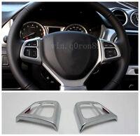 For Suzuki Vitara Escudo 2015 2016 ABS Steering Wheel Button Frame Cover 2pcs