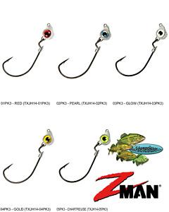Z-MAN Jigheads Texas Eye Swinging Swim Bait Style 1/4oz (TXJH14) Any 5 Colors