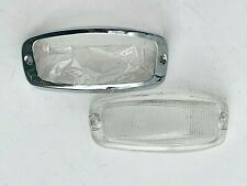 Volvo Amazon 120 130 P1200 Indicator Front Left Lens Chrome Frame 654770 659091