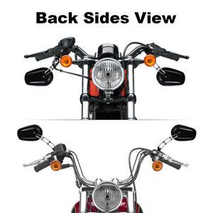 Schwarz 8mm Rückspiegel Gewind Fit For Harley Fat Boy FLSTF 90-16 Road King