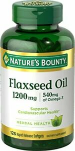 Flaxseed Oil and Omega 3 by Nature's Bounty, 125 Count (Pack of 1), Multi