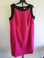 Jones Studio Separates Black Berry Sheath Dress Plus Stretchy Lined NWT$99