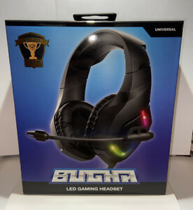 Universal BUGNA LED Gaming Headset, Pro Gamer Player Of The Year - Brand New!!!