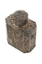 19th century Beautiful Antique Silver Repousse Tea Caddy