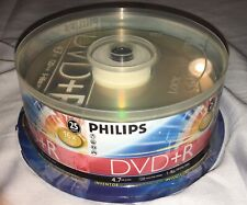 25-pk Philips branded 16x DVD+R Dual Layer 4.7GB Blank Recordable Disk