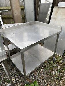 Stainless Steel Corner Prep Table On Wheels (1m) Read Full Description.