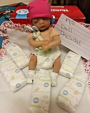 HUGGIES NANO  PREEMIE DIAPERS 5 TOTAL  TINY FOR UP TO 2 PD   NO DOLL INCLUDED