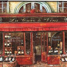 Wandbild Deko Fliese französischer Lade Wein La cave a vins