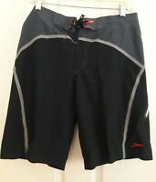 Mens Board short Shorts size 32 black Gray Beach Trunks Swimming Surfing speedo