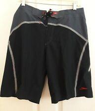 Mens Board short Shorts size 32 black Gray Beach Trunks Swimming Surfing speedo