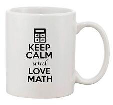 Keep Calm And Love Math Mathematics Calculator Funny Ceramic White Coffee Mug