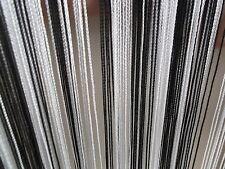 Black & White Stripe String Panel Curtain Room Divider Door Hanging 1m x 2m Fun