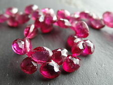 """HAND FACETED PINK TOURMALINE DROPS, graduated 5x5mm - 6x6mm, 8.5"""""""