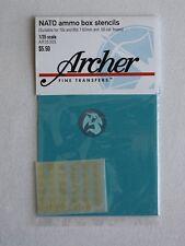 Archer 1/35 NATO 7.62mm and .50 Calibre Ammo Box Stencils 1970s - 1980s AR35305