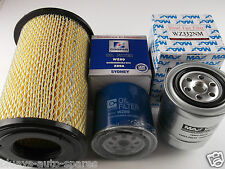 NISSAN NAVARA D22 YD25 FILTER KIT AIR,OIL,FUEL SUITS 2.5L T'DIESEL 4CYL 2008-ON