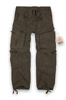 Brandit Puro Vintage Pantalón Militar Hombre Talla Grande Pantalones Ropa de
