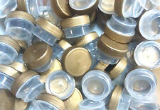 75 Tiny Small Plastic JARS Gold Cap Container Cosmetic Samples DecoJars #3301