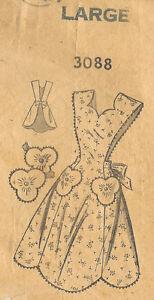 "1940s Vintage Sewing Pattern APRON B36""-38"" LARGE (R217)"
