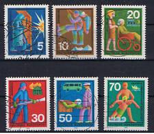GERMANIA 6 FRANCOBOLLI 1970 usato - Servizi del Socco..