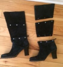 Genius Snap Off Style Ankle Mid calf Knee Cat Boots Womens 7 Blue Wear 3 Ways!