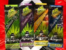 4 X Variety Packs Juicy Flavored 16 X Blunt Hemp Wraps rolling paper