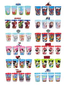 New Design Kids Character Licenced Plastic Drinking Juice Cup Set of 4 -260ML