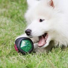 Pet Flash Light Play Fun Ball Rubber Puppy Toy Bouncing Chew Training Glow Shake