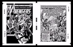 "AVENGERS # 150 Production Art, Cover & Splash page, George Perez art, 17"" x 11"""
