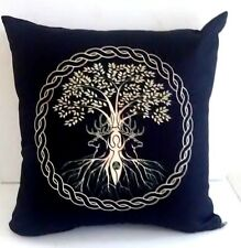 Wicca Celtic Tree of Life Pillow Case Home Decoration Print Wicca Pagan Design