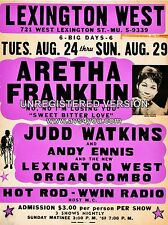"Aretha Franklin Lexington 16"" x 12"" Photo Repro Concert Poster"