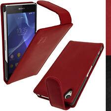 Igadgitz U2831 Custodia vera Pelle Flip per Sony Xperia Z2 D6503 e (b7p)