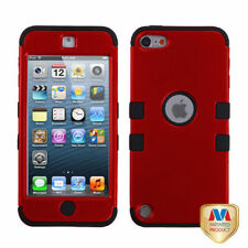 For iPod Touch 5 5th Gen Rubber IMPACT TUFF HYBRID Case Skin Cover Red