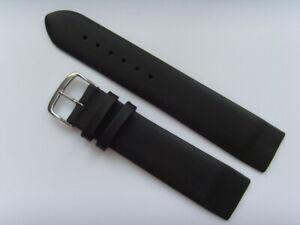 Watch Strap Leather Black 22 MM Slide Attachment Screws Skagen BERING 125