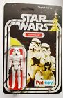 STORMTROOPER ACTION TOY CUSTOM  RESTORED ON 12 PALITOY STARWARS NEW HOPE CARD