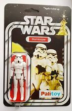 STORMTROOPER ACTION FIGURE CUSTOM RESTORED ON 12 PALITOY STARWARS NEW HOPE CARD