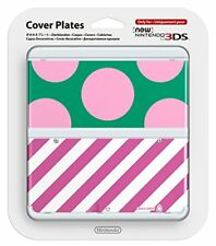 New Nintendo 3DS Cover Plate No.017 Dot Pink Green