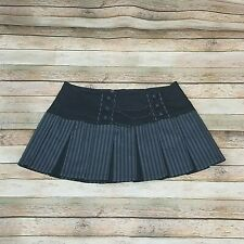 Tripp NYC Black Gray Pleated Skirt Mini Goth Chains Large