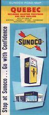 1961 Sunoco Road Map: Quebec NOS