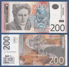 SERBIEN / SERBIA 200 Dinara 2011 UNC  P. 58 a
