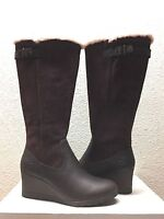 UGG MISCHA STOUT WATER / SNOW PROOF LEATHER WEDGE BOOT US 7 / EU 38 / UK 5.5 NEW