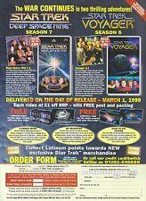 Star Trek Deep Space Nine, Voyager 1999 Magazine Advert #7338