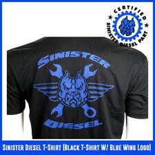 Sinister Diesel T-Shirt (Black T-Shirt W/ Blue Wing Logo)