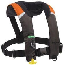 Kent M-33 In-Sight Manual Inflatable Orange/Black/Grey Life Jacket PFD
