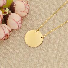 Rund Halskette mit Kreis Anhänger Geschenk Silber Golden Rosegolden Modeschmuck