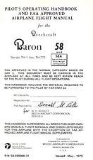 BEECHCRAFT BARON 58 - PILOT'S OPERATING HANDBOOK 1979
