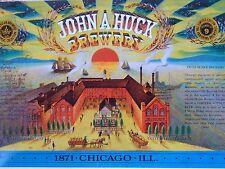 Vintage 1978 Beer John A Huck Brewery Beer Label Buyer Approval Jos Huber Museum